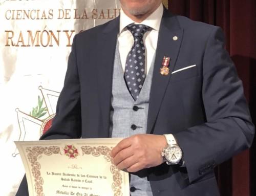 Medalla al Mérito Sanitario por la Ilustre Academia de las Ciencias de la Salud Ramón y Cajal